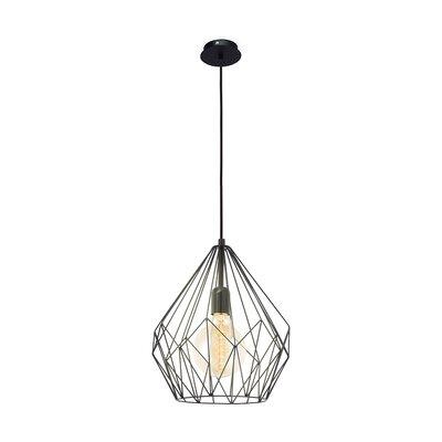 Carmouche 1-Light LED Black Geometric Pendant