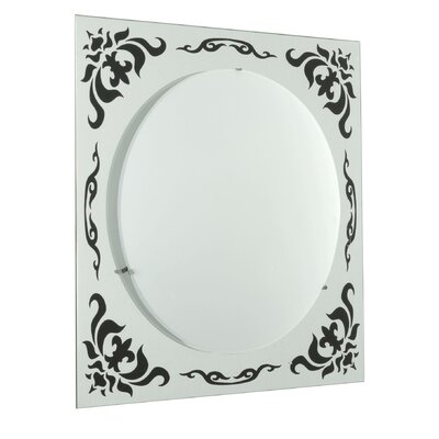 Cleaver 2-Light Flush Mount Fixture Finish: White