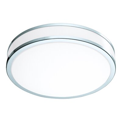 Mcclinton 2-Light LED Flush Mount Size: 4.49 H x 16.14 W x 16.14 D
