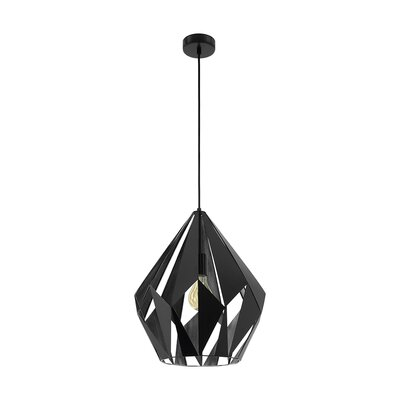 Dones 1-Light Geometric Pendant Shade Color: Gray