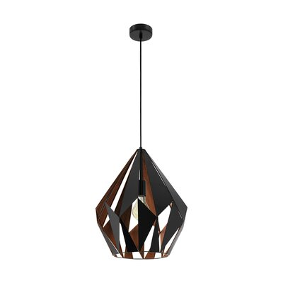 Dones 1-Light Geometric Pendant Shade Color: Brown