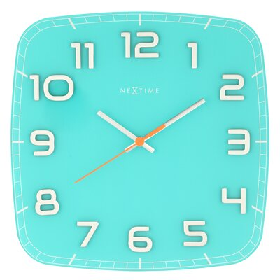 Classy Square Wall Clock Color: Turquoise