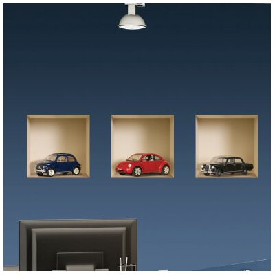 3D Effect Model Car Wall Mural 038