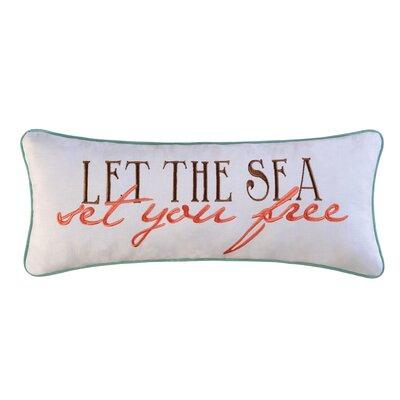 Let the Sea Set You Free Cotton Lumbar Pillow