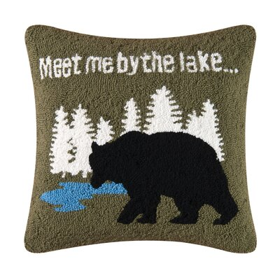 Gibson Lake Hooked Throw Pillow