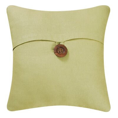 Envelop Embroidered Throw Pillow Cover Color: Green