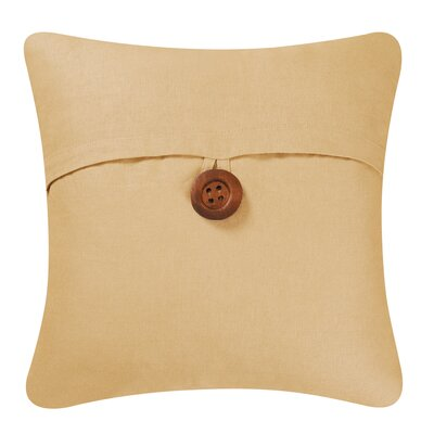 Envelop Embroidered Throw Pillow Cover Color: Camel