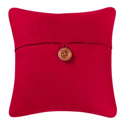 Envelop Embroidered Throw Pillow Cover Color: Red