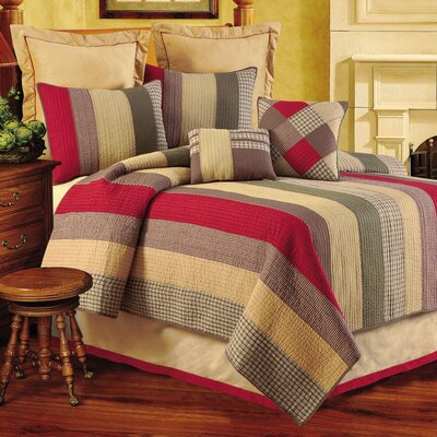 Oak Ridge Stripes Quilt Size: King