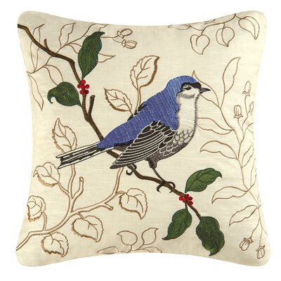 Gnatcatcher Cotton Throw Pillow