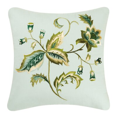 Amelia Blue Cotton Throw Pillow