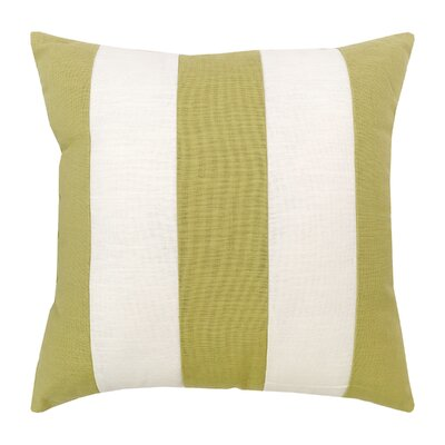 Cotton Throw Pillow Color: Green and White