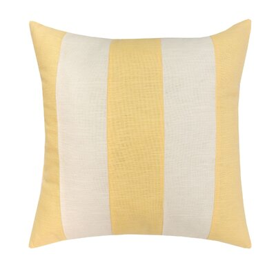 Cotton Throw Pillow Color: Yellow and White