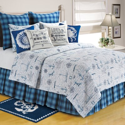 Fair Winds Tartan Plaid Bed Skirt Size: King