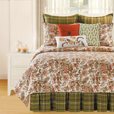 Jocelyn Quilt Collection-Tenby Plaid Bed Skirt