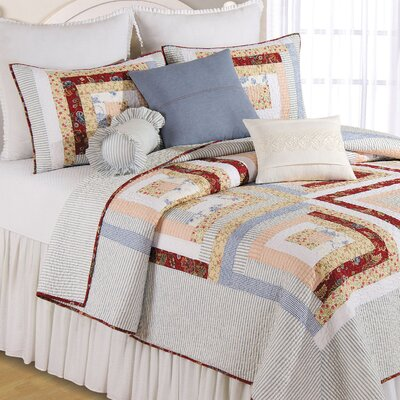 Eleanor Cotton Quilt Size: King