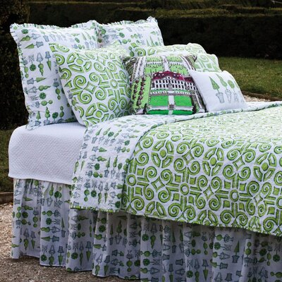 Boxwood Abby Cotton Quilt Size: King