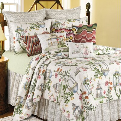 Garden Folly Cotton Quilt Size: Twin