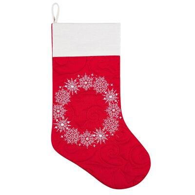 Snowflake Wreath Stocking (Set of 2) 842532347