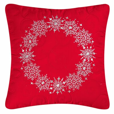 Snowflake Cotton Throw Pillow