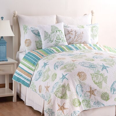 Reef Point Reversible Quilt Set Size: Twin