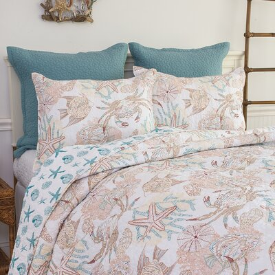 Key Biscayne Reversible Quilt Set Size: Full/Queen