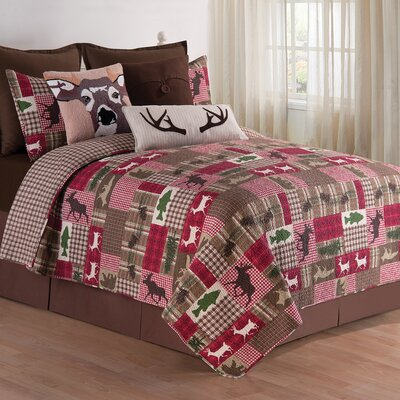 Happy Camper Reversible Quilt Set Size: Full/Queen