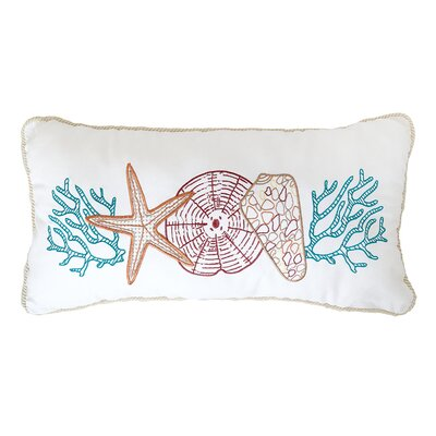 Key Biscayne Multi Shells Throw Pillow