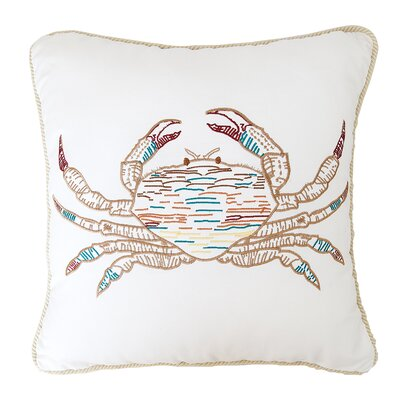 Key Biscayne Crab Throw Pillow