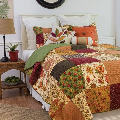 Rustic Lodge Reversible Quilt Set Size: Twin