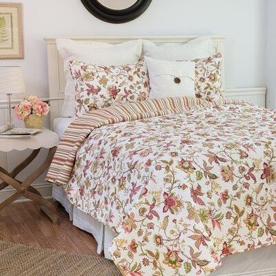 Jacobean Reversible Quilt Set Size: King