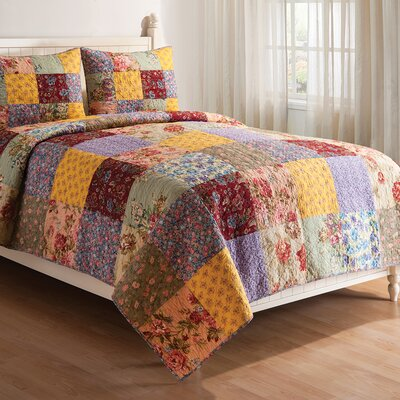 Floria Reversible Quilt Set Size: Twin