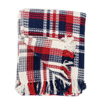 Harbor Plaid Cotton Throw