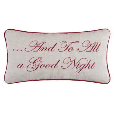Gloria And To All A Good Night Lumbar Pillow