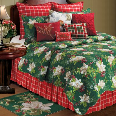 Bella Magnolia Cotton Quilt Size: Full/Queen