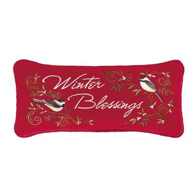 Hale Winter Blessings Cotton Boudoir/Breakfast Pillow