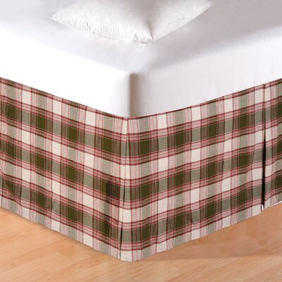 Chickadee Plaid Bed Skirt Size: King