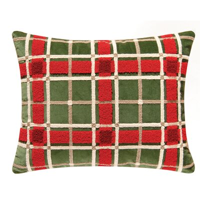 Bella Magnolia Plaid 100% Cotton Lumbar Pillow