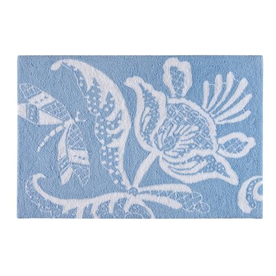 Eliza Lace Blue Area Rug
