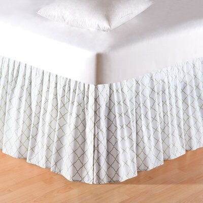 Fleming Lattice Bed Skirt Size: Queen