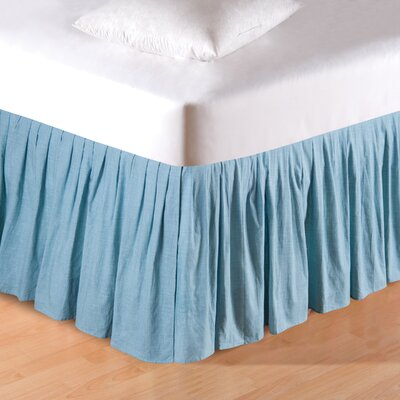 Aegean Grid Bed Skirt Size: Twin