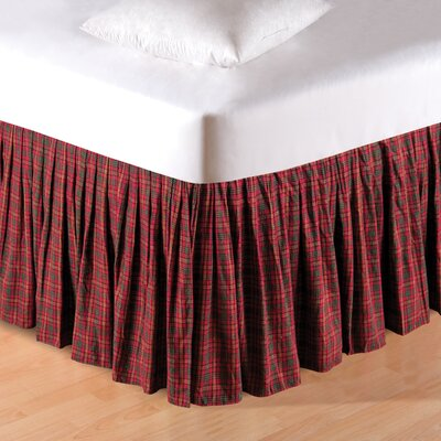 Gibson Plaid Dust Ruffle Bed Skirt Size: King