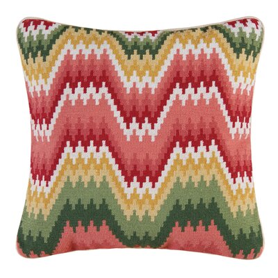 Wave Stitch Accent Wool Throw Pillow