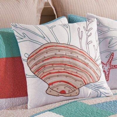 Folly Beach Shell Cotton Throw Pillow