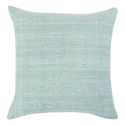 Chambray Indoor/Outdoor Throw Pillow Color: Sea Glass