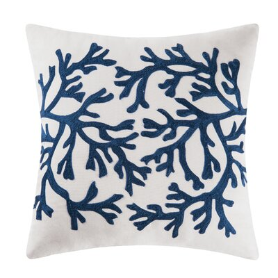 Coral Coastal 100% Cotton Throw Pillow