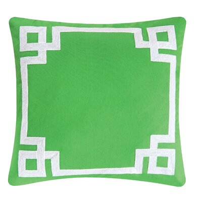 Greek Key 100% Cotton Throw Pillow
