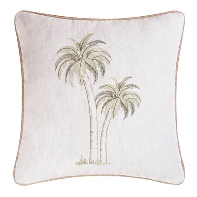 Pair of Palms Coastal Throw Pillow