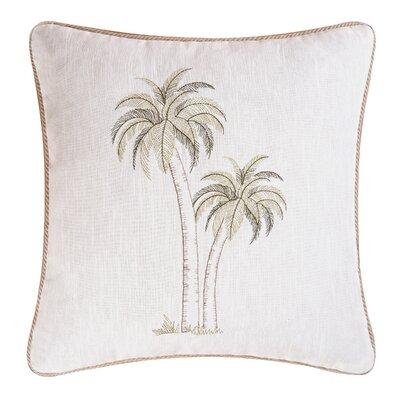 Pair of Palms Coastal Throw Pillow