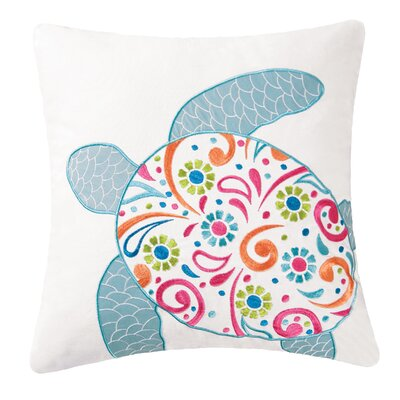 Brazell Sea Turtle 100% Cotton Throw Pillow